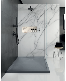 LIMIT 1400 x 900 Shower Tray Anthracite - with FREE shower waste