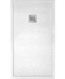 LIMIT 1400 x 800 Shower Tray White - with FREE shower waste