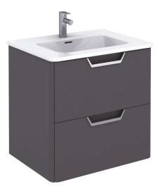 Lyon Gloss Grey 60 Vanity Unit