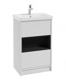 Malta 50cm Matt White Vanity Unit & Basin