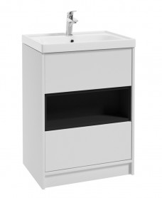 Malta 60cm Matt White Vanity Unit & Basin