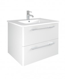 Mara White 60cm Vanity Unit 2 Drawer and Basin