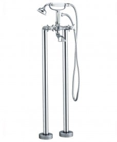 Edwardian Floor Standing Bath Shower Mixer