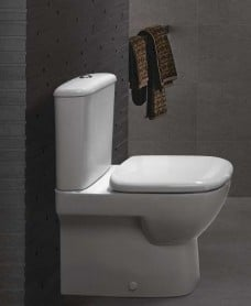 Twyford Moda Fully Shrouded Close Coupled Toilet & Soft Close Seat