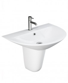 Morning Basin 55cm & Semi Pedestal (1TH)
