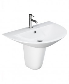 Morning Basin 60cm & Semi Pedestal (1TH)