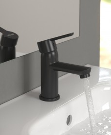 Nena Black Basin Mixer with FREE Click Clack Waste