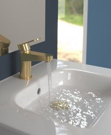 Norfolk Gold Basin Mixer
