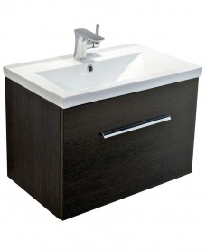 Nova Dark Wood Slimline 60cm Wall Hung Vanity Unit