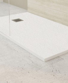 Slate White 1700x700mm Rectangular Shower Tray & Waste