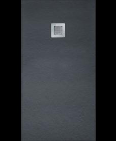 Slate Black 1800x700mm Rectangular Shower Tray & Waste