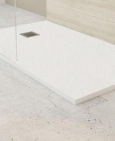 Slate White 1800x700mm Rectangular Shower Tray & Waste