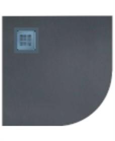 Slate 1000 Quadrant Anthracite Shower Tray & Waste
