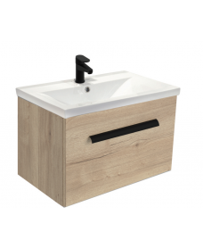 Nova Halifax Oak Slimline 50cm Wall Hung Vanity Unit