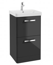 Odeon 500mm Floorstanding  2 Drawer Vanity Unit & Basin with Nena Basin Mixer  - *Special Offer
