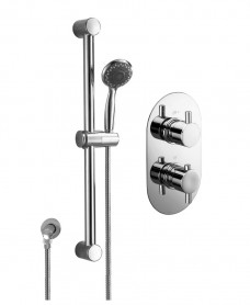 ORION Dual Shower Valve & Round Slide Rail Kit