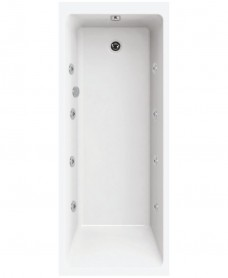 Oscar Single Ended 1700x750 8 Jet Whirlpool Bath
