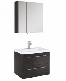 Otto Plus Hacienda Black 60 Mirror Cabinet