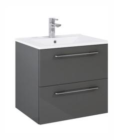 Otto Plus Gloss Grey 60 Vanity Unit