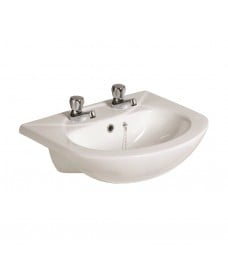 Strata 500 Semi Recessed Basin 2TH
