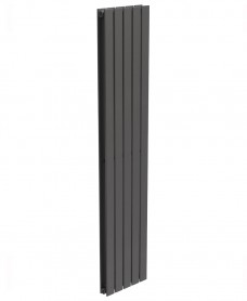Piatto Flat Tube Designer Radiator Vertical 1800 x 380 Double Panel Anthracite