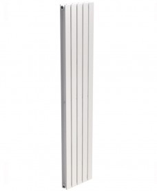 Piatto Flat Tube Designer Radiator Vertical 1800 x 380 Double Panel White