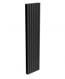 Piatto Flat Tube Designer Radiator Vertical 1800 X 456 Double Panel Black