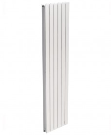 Piatto Flat Tube Designer Radiator Vertical 1800 x 456 Double Panel White