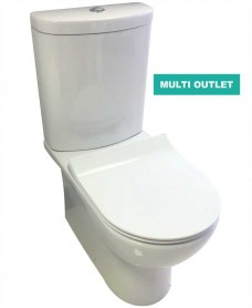 Perth Fully Shrouded Toilet and SLIM Soft Close Seat - Multi Outlet