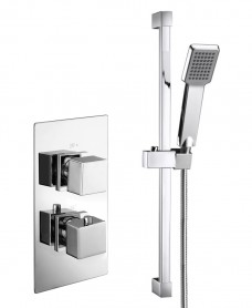 PICTOR Dual Shower Valve & Square Slide Rail Kit