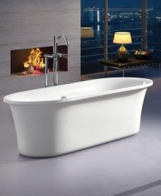 Plaza 1800 x 840 x 580mm Bath & Waste