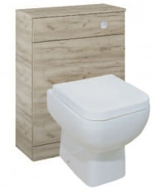 Porto Craft Oak Back to Wall Slimline Unit with Concealed Cistern