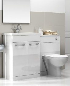 Porto White Combo - Special Offer* - includes QUADRO toilet, choice of Quartz, Sutton, Horley or Poole tap  and Waste
