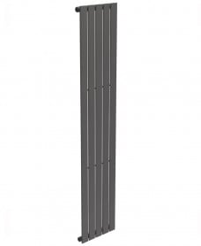 Piatto Flat Tube Designer Radiator Vertical 1800 x 376 Single Panel Anthracite