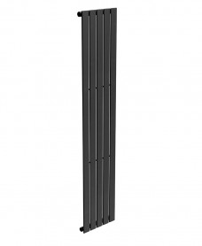 Piatto Flat Tube Designer Radiator Vertical 1800 X 376 Single Panel Black