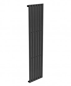 Piatto Flat Tube Designer Radiator Vertical 1800 X 452 Single Panel Black