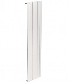 Piatto Flat Tube Designer Radiator Vertical 1800 x 452 Single Panel White