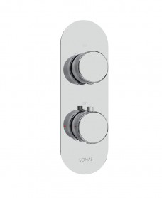 Quantum Knurled Twin Shower Valve Single Outlet Valve