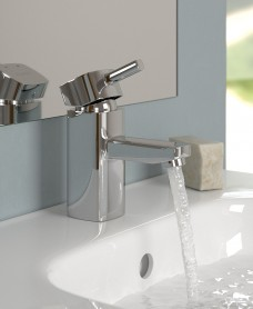 Quartz Cloakroom Basin Mixer with FREE Click Clack Basin Waste