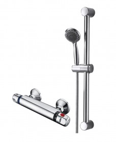 REECE T-Bar Shower Valve & Round Slide Rail Kit