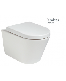 Reflections Wall Hung Rimless Toilet with Soft Close Seat