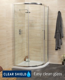 Revive 900 Quadrant Single Door Shower Enclosure - Adjustment 850-880mm - *50% Off While Stocks Last