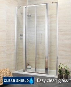 Revive 1400 Bifold Shower Door with Two Infill Panels - Adjustment 1340-1400mm