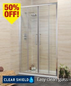 Revive 1600 Double Sliding Shower Door - Adjustment 1540-1600mm - *50% Off While Stocks Last