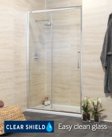 Revive 1100 Sliding Shower Door - Adjustment 1045-1100mm - 50% Off While Stocks Last