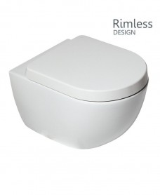 Darcy Rimless Wall Hung Toilet with soft close seat