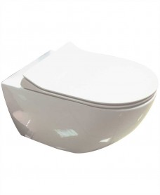 Darcy Wall Hung Toilet with SLIM soft close seat Quick Release