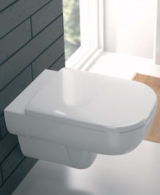 E500 Square Rimfree® Wall Hung Toilet with Seat