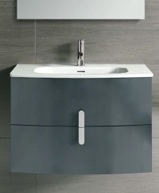 Curve 100cm Gloss Grey Vanity Unit