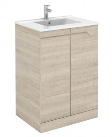 Brava 60cm Maple Floor Unit with Basin and Choice of Tap - *Special Offer